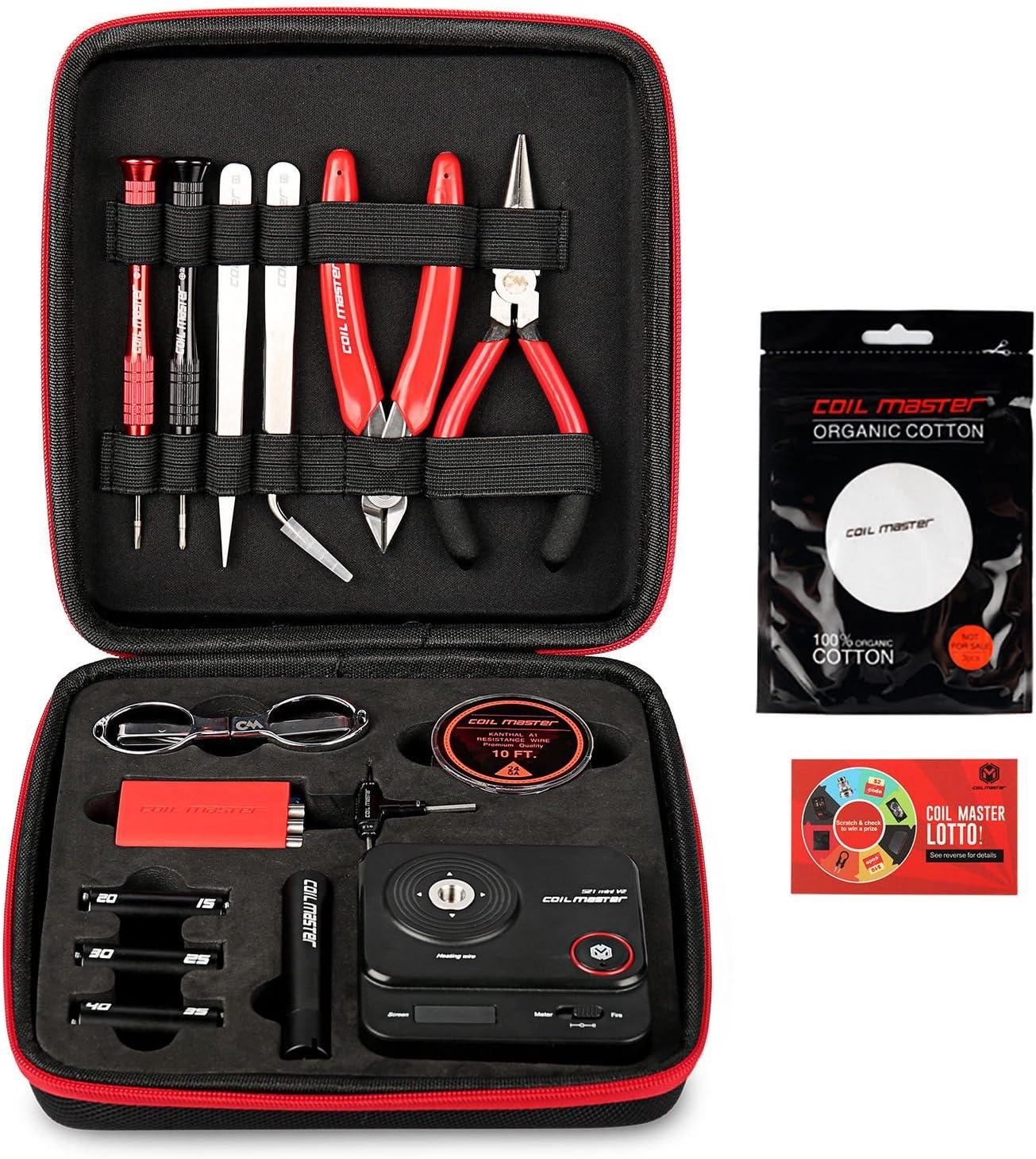 Bobina Master diyv3Kit V3conjunto de herramientas con la última Bobina Jig (V4)/521Tab Mini lector de Ohms/pinzas/resistente al calor, el más nuevo kit de herramientas de alambre
