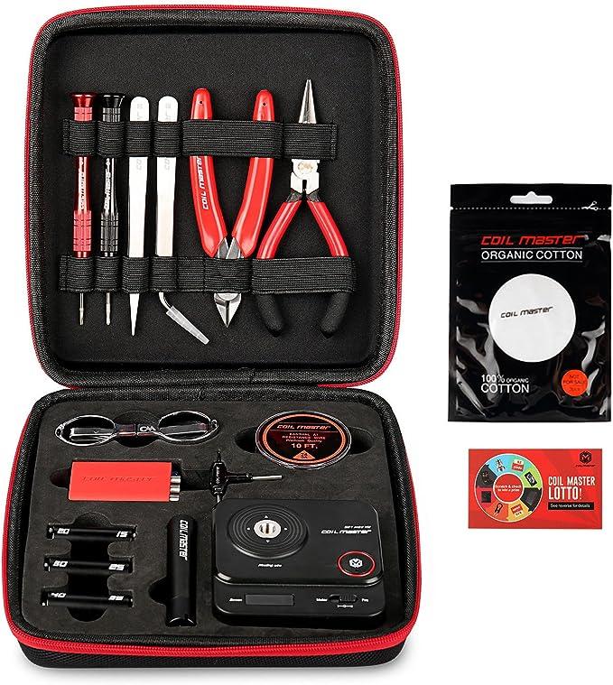 Bobina Master diyv3 Kit V3 conjunto de herramientas con la última Bobina Jig (V4)/521 Tab Mini lector de Ohms/pinzas/resistente al calor, el más nuevo kit de herramientas de alambre: Amazon.es: Bricolaje y
