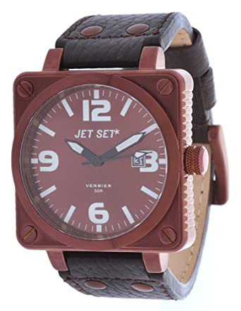 6d8b8919eb13 Amazon | ジェットセットメンズ腕時計Verbierダークブラウンj17905 – 756 ...