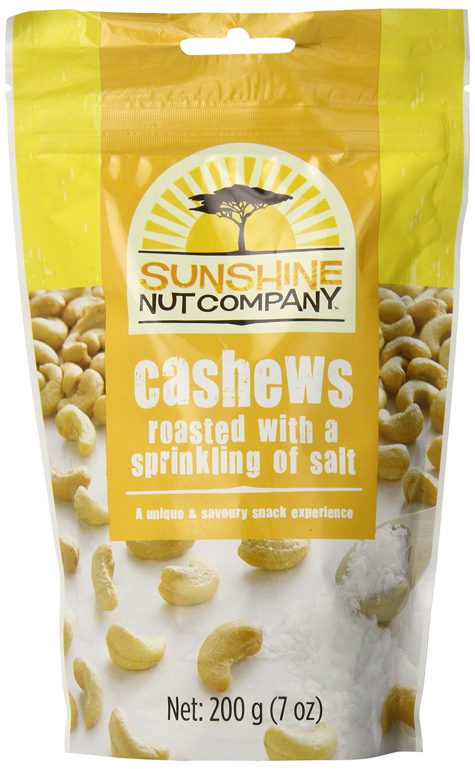 Sunshine Nut Company Cashews Roasted with a Sprinkling of Salt, 7 Ounce (Pack of 12)