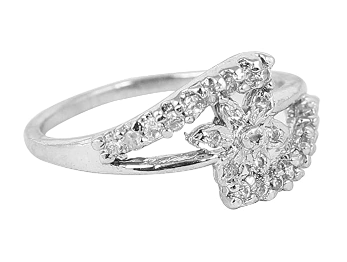 935c82852 Buy Touchstone Golden Rhinestone Ring for Women Online at Low Prices in  India   Amazon Jewellery Store - Amazon.in