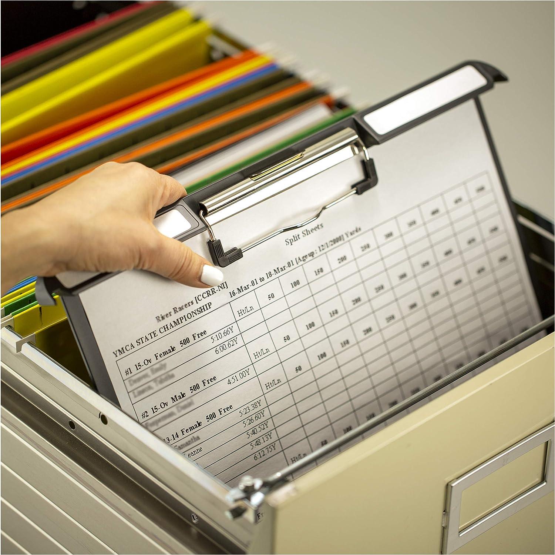 OfficemateOIC Klip N File Landscape Filing Clipboard, Charcoal (83040)