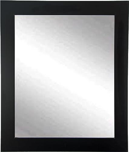 BrandtWorks Wall Mirror, 32 x 55 , Matte Black