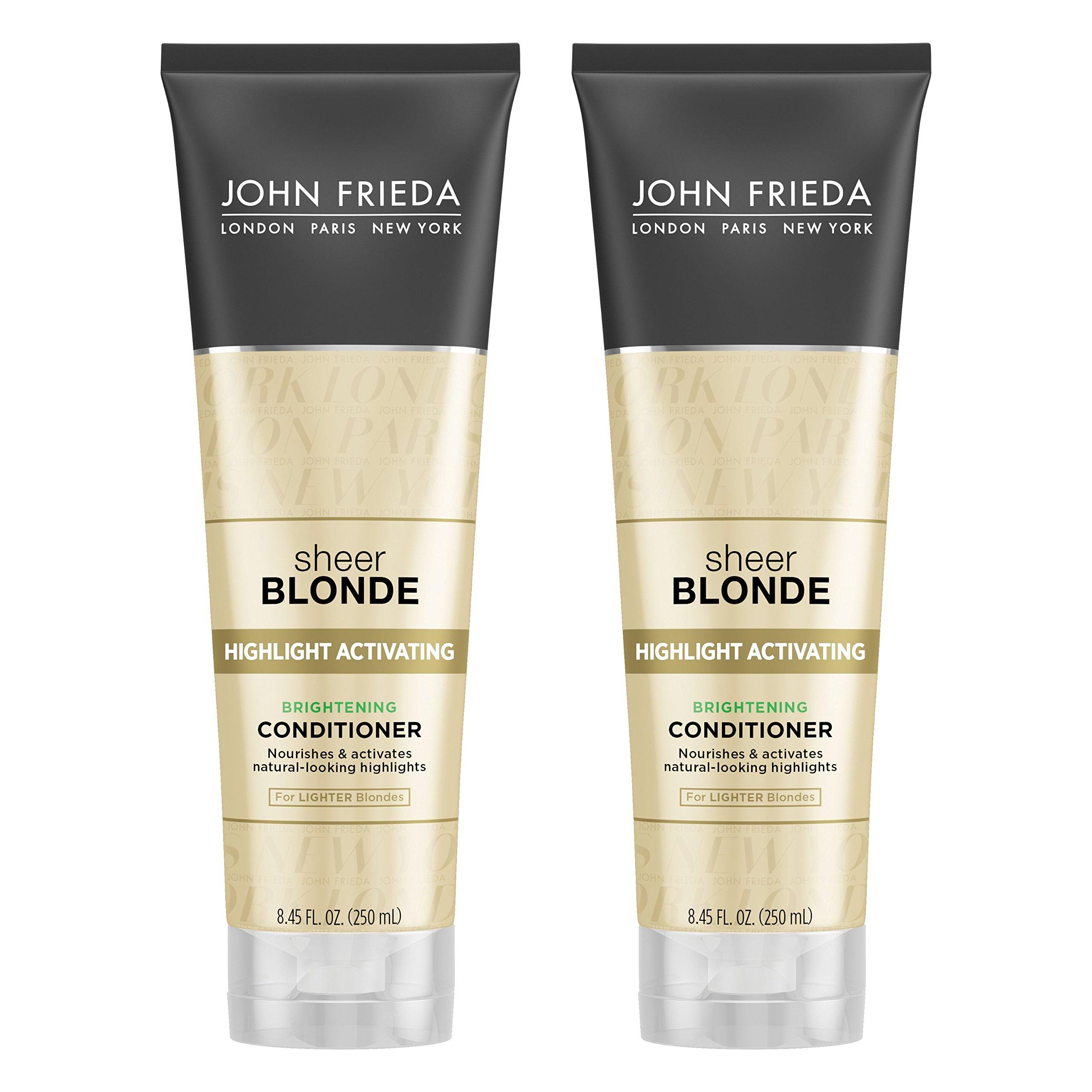 John Frieda Sheer Blonde Highlight Activating Brightening Conditioner for Lighter Blondes, 8.45 Ounces (Pack of 2)