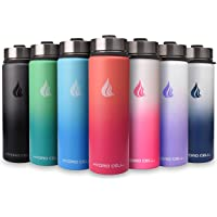 $21 » HYDRO CELL Stainless Steel Water Bottle w/ Straw & Wide Mouth Lids (64oz 40oz 32oz…