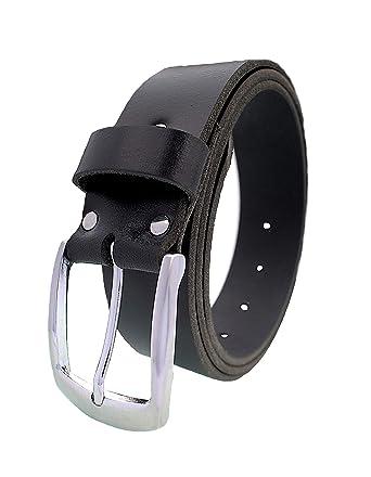Damen Gürtel  schwarz echt Leder 4 cm breit Hosengürtel Bundweite 80-110cm