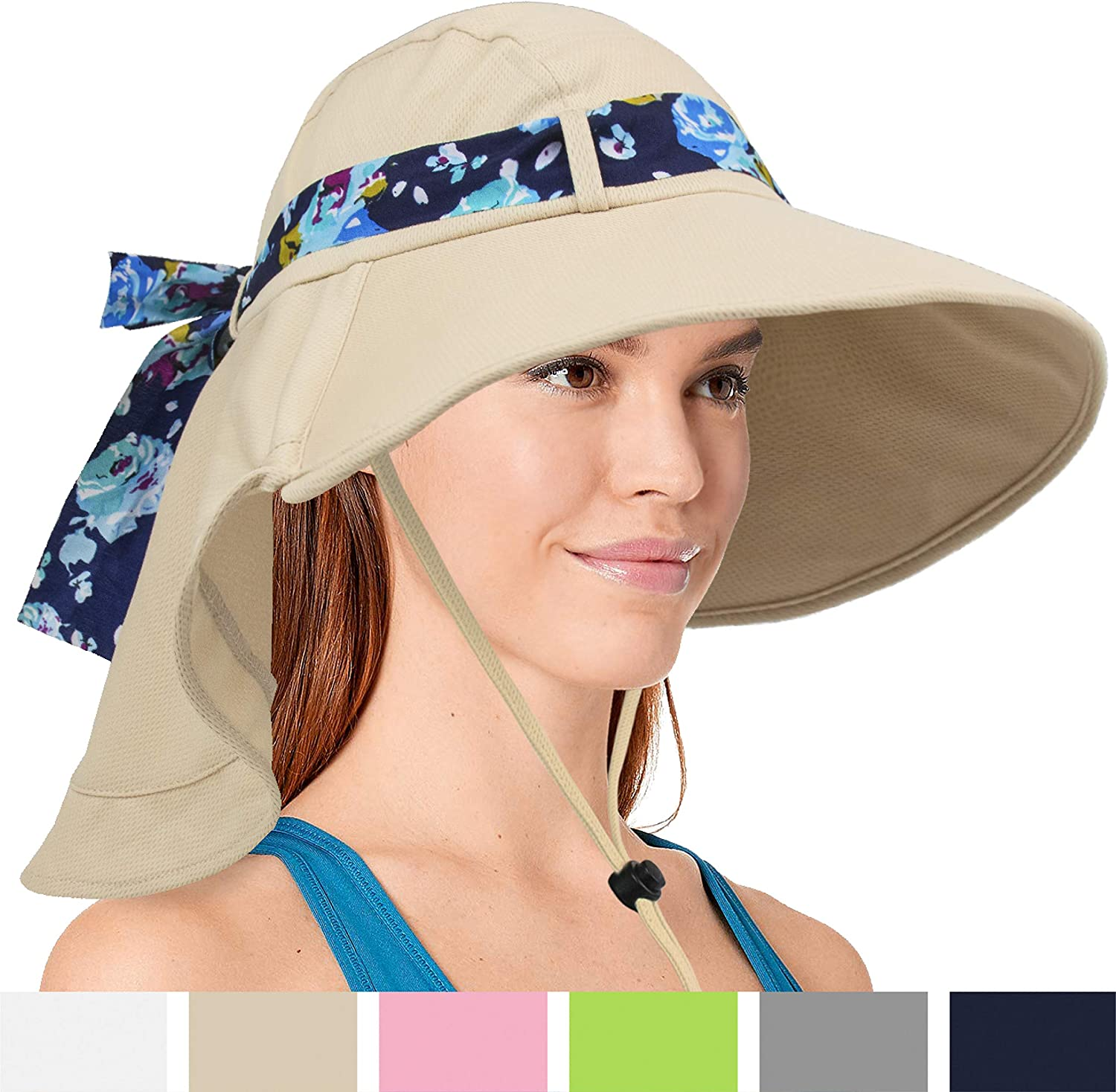Sun Hat with Soft Flap and Wide Brim