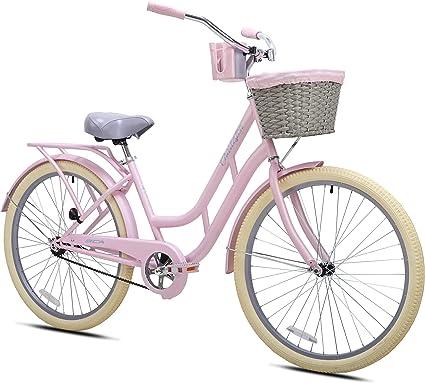 Amazon Com Bca By Kent 26 Women S Charleston Cruiser Bike Pink Sports Outdoors