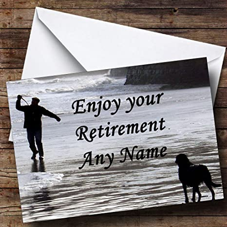Man And Dog Retirement Customised Card