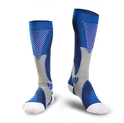 ODOLAND Compression Calcetines deportivos, calcetines auténticos para la recuperación y el rendimiento, hombres y mujeres Compression ...