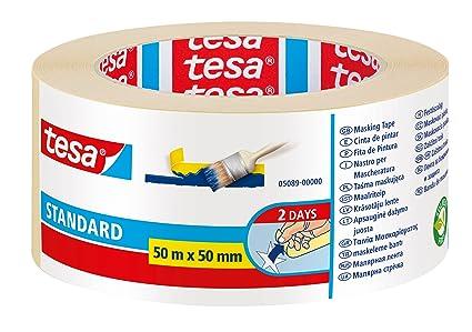 623aedbd3 Cinta de pintor tesa Standard (50 m x 50 mm)  Amazon.es  Bricolaje y ...