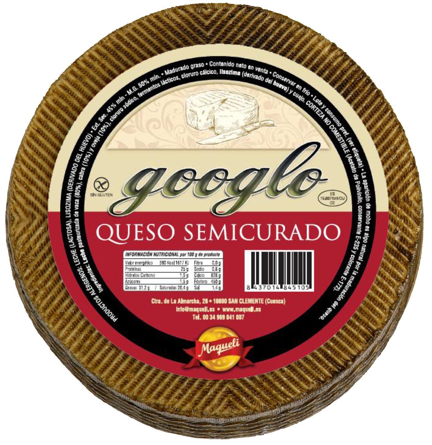 Queso Cremoso de La Mancha - Googlo Semicurado Formato Mini 1 KG: Amazon.es: Alimentación y bebidas