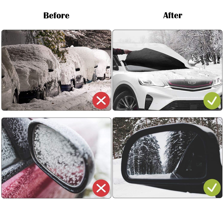 Amazon.es: HOKEKI Protector para parabrisas, Cubierta de Parabrisas Magnético Protege de Hielo, Nieve Vientoy Lluvia, Apropiada para Universal Automóviles ...