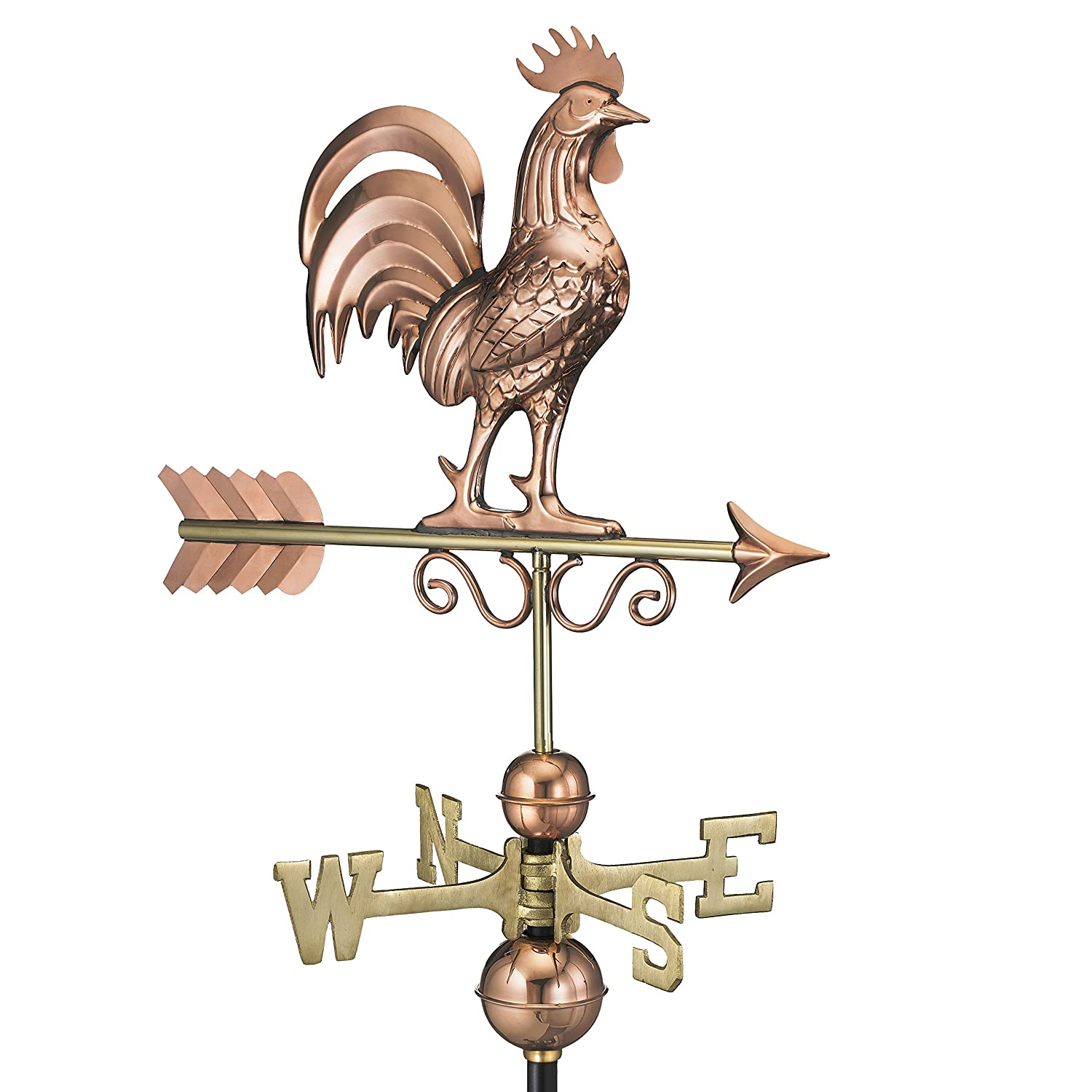 Good Directions Bantam Rooster Weathervane, Pure Copper 1975P