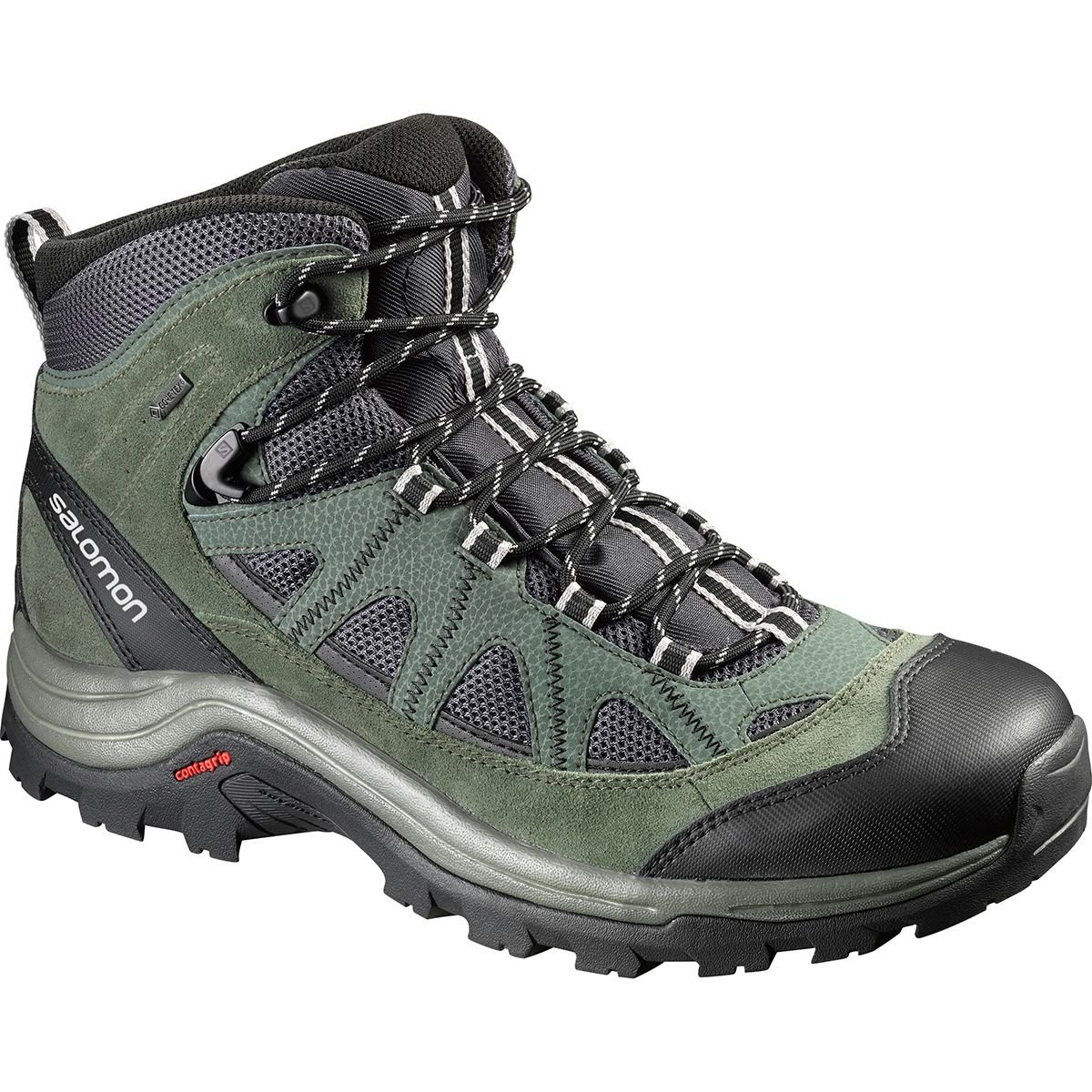 Salomon Men's Authentic LTR GTX Backpacking Boot, Asphalt/Night Forest/Aluminium, 7 M US by Salomon