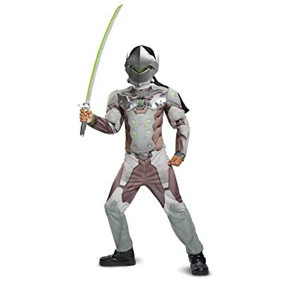 Disguise Genji Classic Muscle Child Costume, Gray, Medium (7-8): Toys & Games
