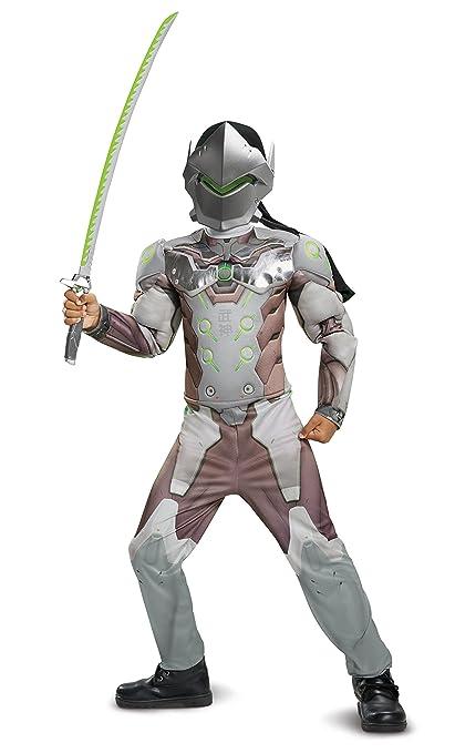 Disguise Genji Classic Muscle Child Costume, Gray, Medium (7-8)