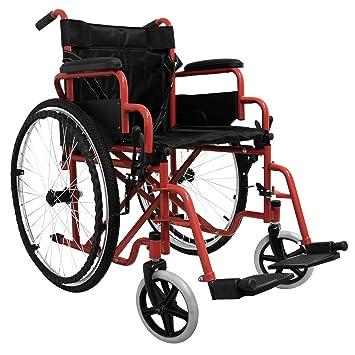 medicalpharm® carrito silla de ruedas autopropulsable, silla de ruedas Cochecito Ruedas para mayores y