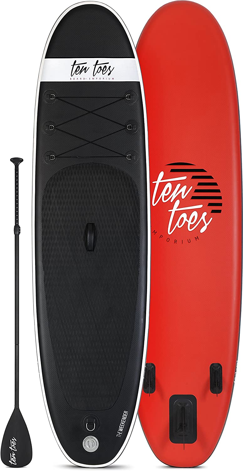... Up Paddle Bundle paddleb oard, Unisex, Weekender 10 Inflatable Stand Up Paddle Board Bundle, Negro y Rojo, Large: Amazon.es: Deportes y aire libre