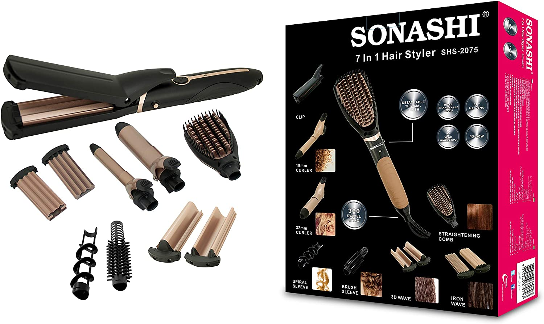 جهاز تصفيف الشعر 7في1 الاحترافي Sonashi SHS -2075, إيمي شيك