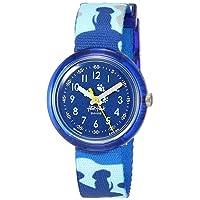 Kids Garden Adventure Swiss Quartz Polyester Strap, Blue, 14 Casual Watch (Model: ZFPNP058)