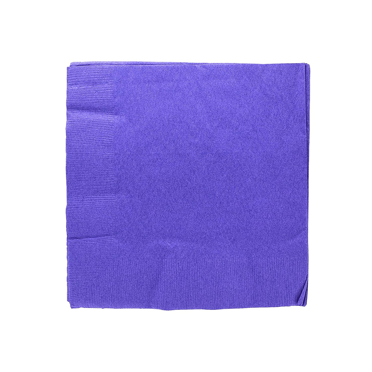 "Birthday Dinner Amcrate Big Party Pack 125 Count Caribbean Blue Beverage Napkins Ideal for Wedding 5/"" x 5/"" Cocktails. Lunch Party"