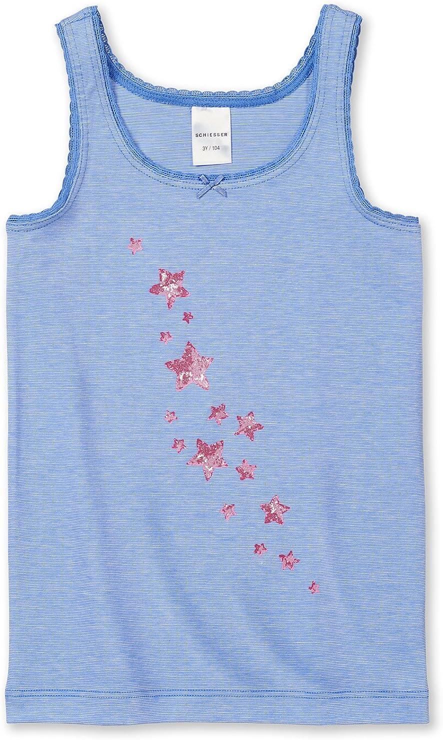Schiesser M/ädchen Unterhemd//Shirt 0//0 143937 in Blau 800-blau