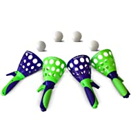 Geospace The Original Pop 'N Catch Game, Set of Four - Perfect for Backyard, Beach, Tailgate | Fun for Kids and Adults