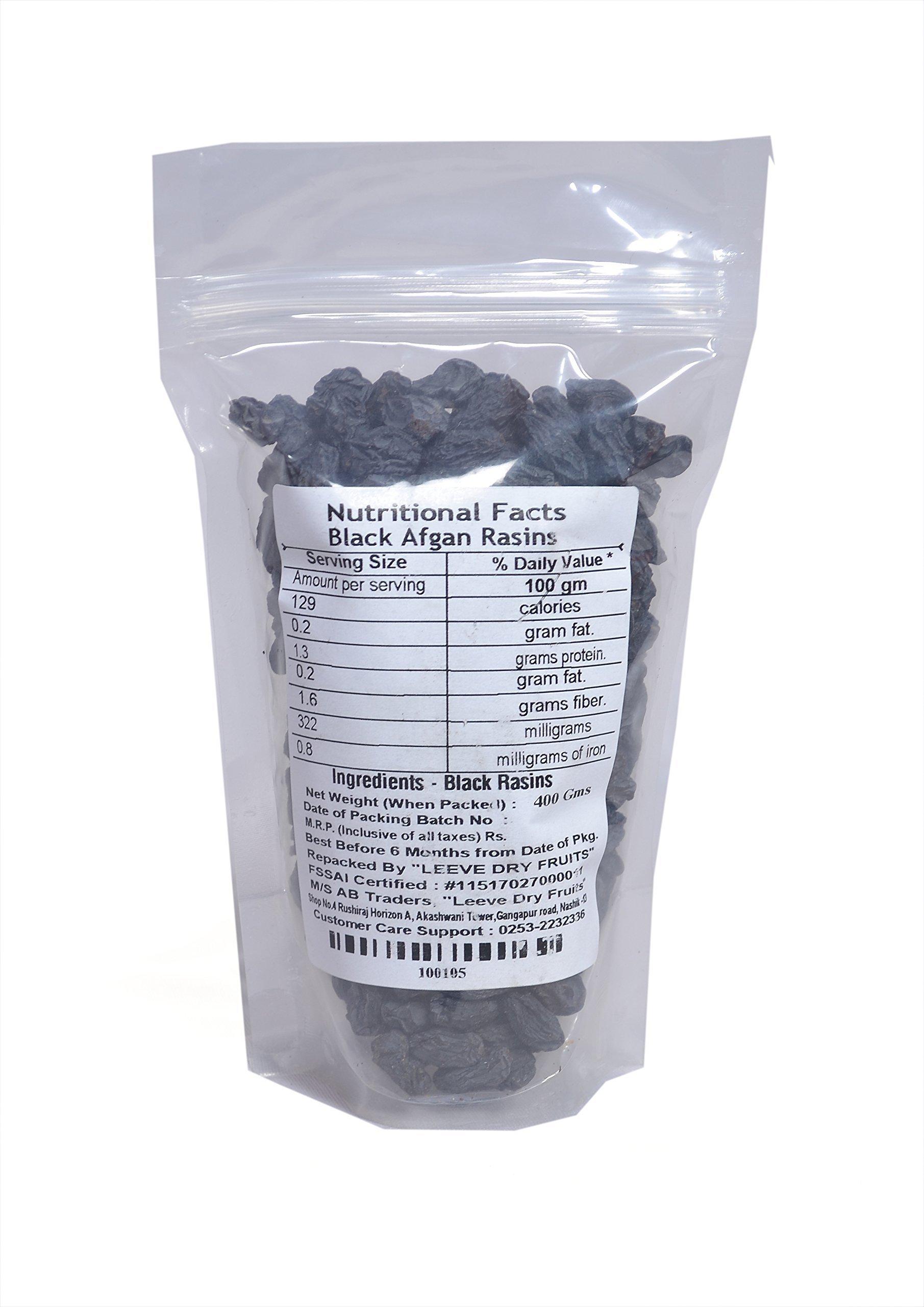 Leeve Dry Fruits Standard Afghan Black Raisins Kali Kishmish - 400 Grams by Leeve Dry Fruits (Image #2)