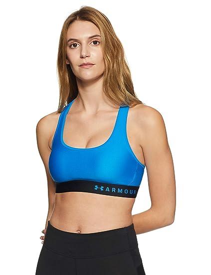 eca1073c9d07c Amazon.com  Under Armour Women s Armour Mid Crossback Sports Bra ...