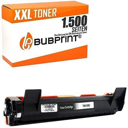 Bubprint Tóner XXL Compatible con Brother TN-1050 para Impresora DCP-1510 DCP-1512 DCP-1601 HL-1110 HL-1112 HL-1201 HL-1210W Negro 1.500 Páginas