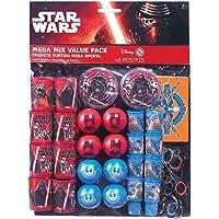 Amscan 48 piezas Star Wars episodio Vll Mega Mix fiesta por paquete de gran valor, Multicolor