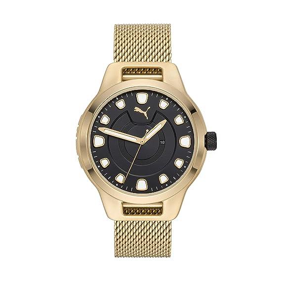 reloj puma dorado hombre