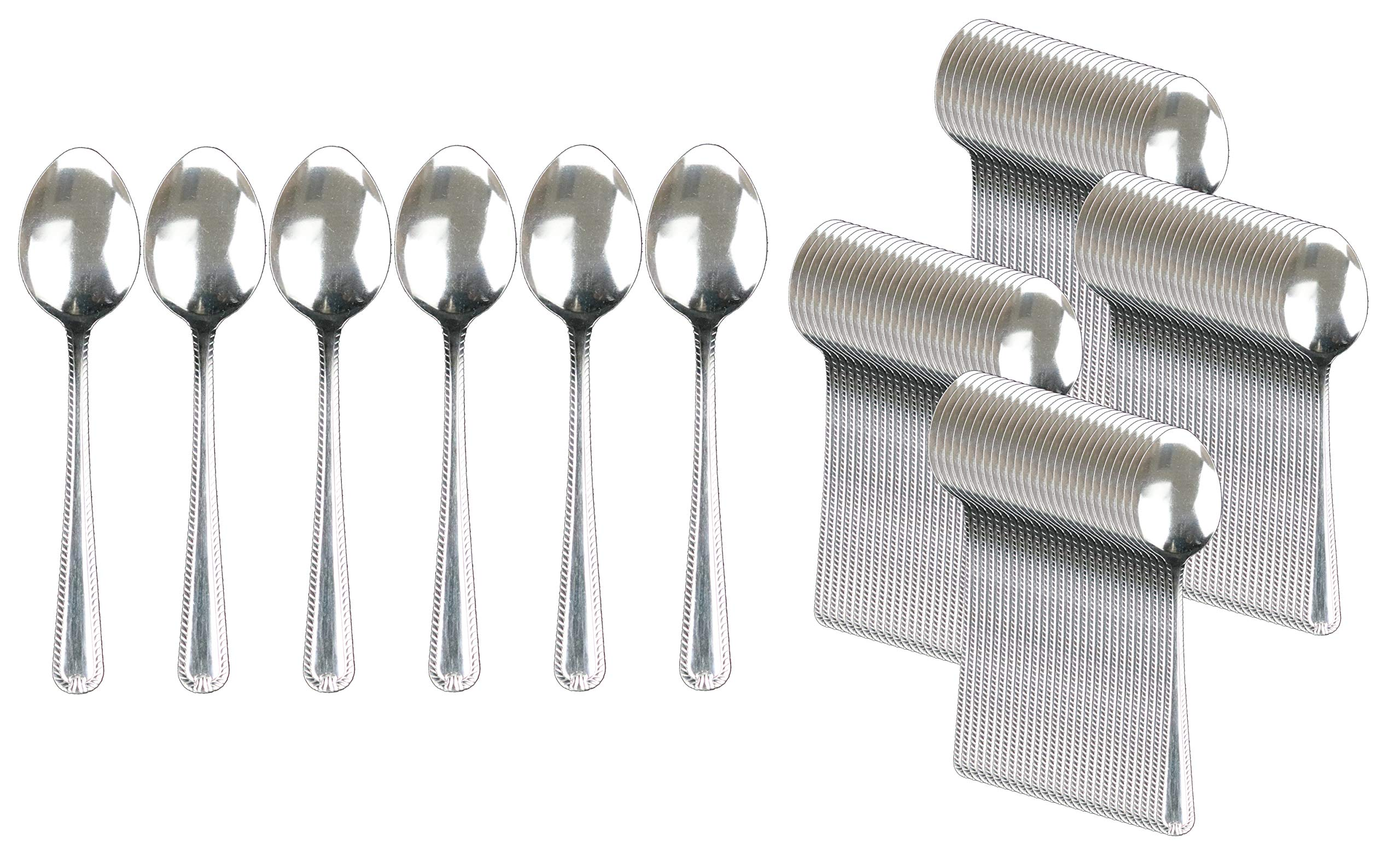 Handi-Ware Stainless Steel Cutlery - Multi-Pack Bulk - Tumble Finish - Commercial Use (120, Dinner Spoon)