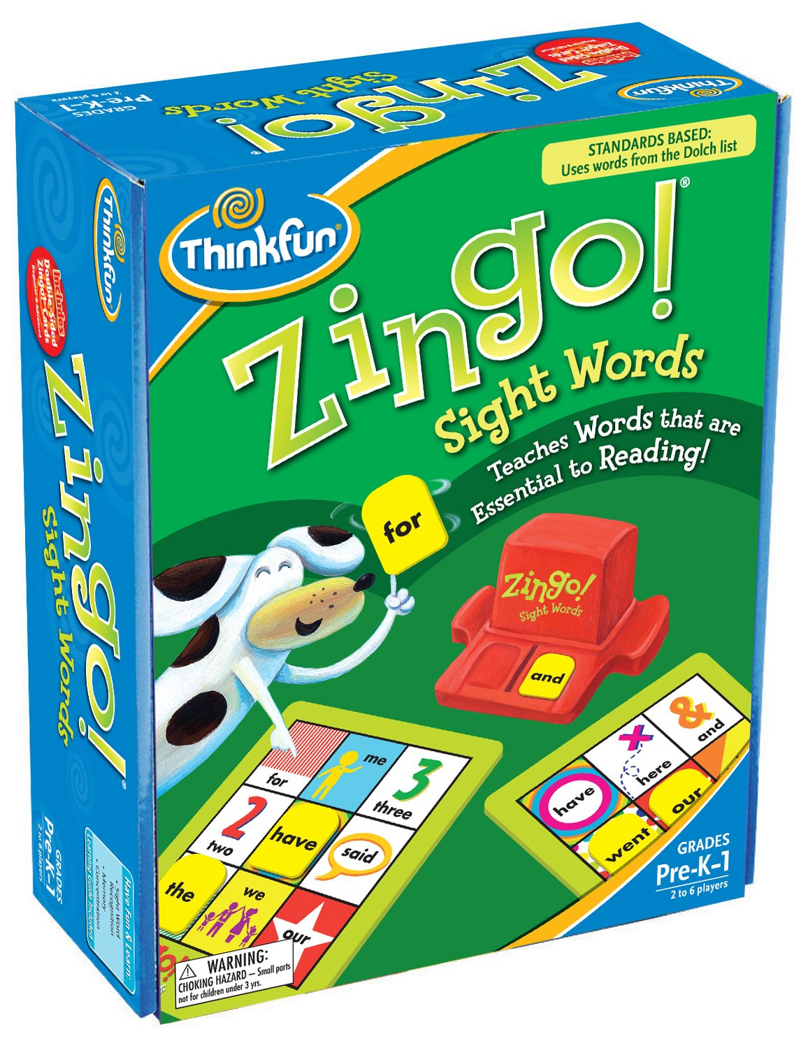 Think Fun Zingo Sight Words Early Reading Game - Toy of the Year Finalist, Developed by Educators for Pre-K to 2nd Graders by Think Fun (Image #2)