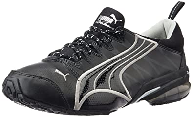 21d0d5b88fc Puma Men's Voltaic II DP Black and Metallic Silver Mesh Running Shoes - 6 UK /