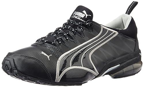 4963ec8b10af Puma Men s Voltaic II DP Black and Metallic Silver Mesh Running Shoes - 6  UK