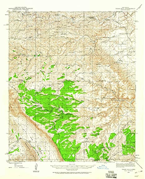 Map Of Texas New Mexico.Amazon Com Yellowmaps Texas Hill Nm Topo Map 1 62500 Scale 15 X