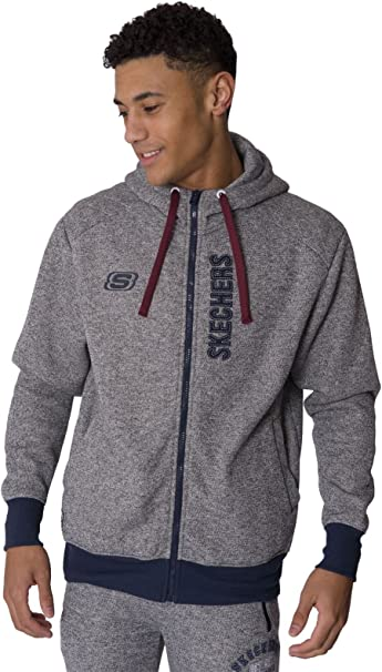 Mens Zip Thru Hoody Grey Marl XXL