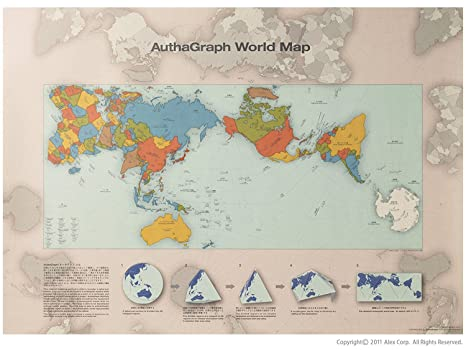 Amazon Com Authagraph World Map A New World Map Reengineered To
