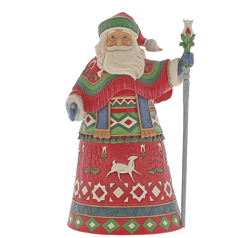 Heartwood Creek Lapland Santa Figurine Decorazione, Multicolour, Taglia Unica Enesco 6001463