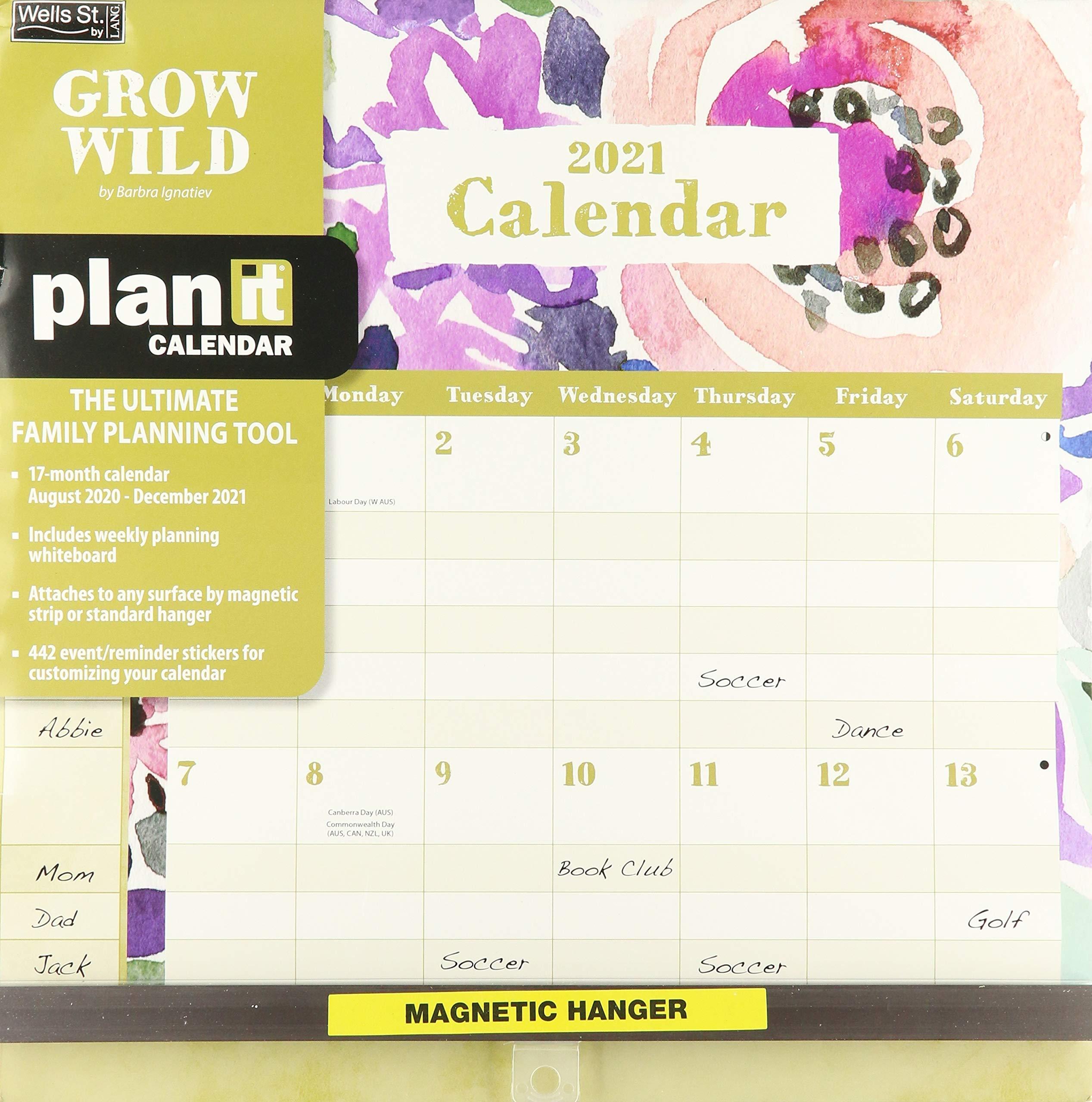 2021 DELUXE PLANNER CALENDAR LANG 61059 GROW WILD BRAND NEW