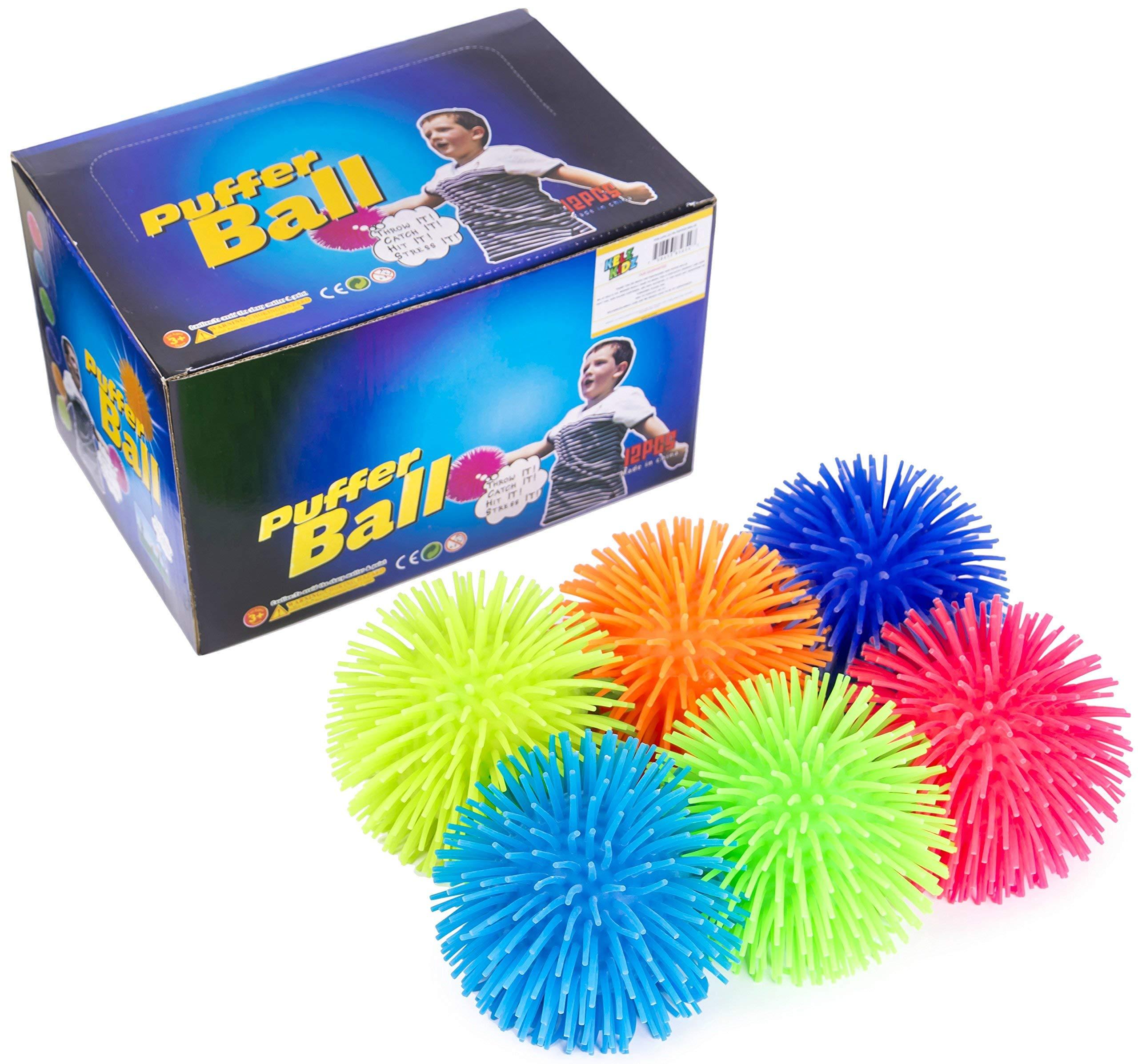 KELZ KIDZ Premium Quality Large & Thick Puffer Balls for Fun Kids Party (Set of 12) by KELZ KIDZ (Image #3)