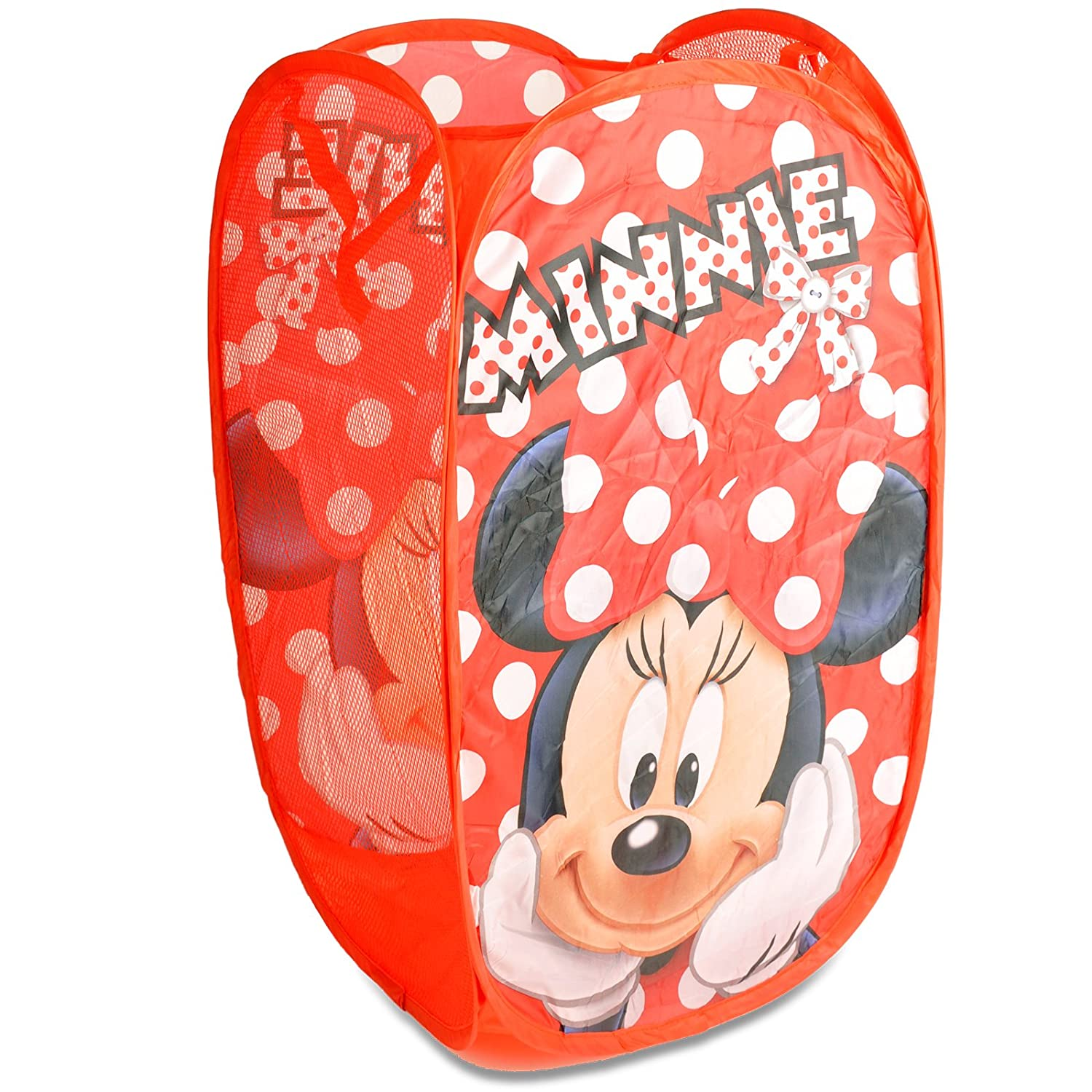 Kids Clothes Hamper Storage Dirty Clothes Basket Kids Pop up Toy Storage / Room Tidy / Laundry Bag / Storage Bag (Minnie Mouse) DSL