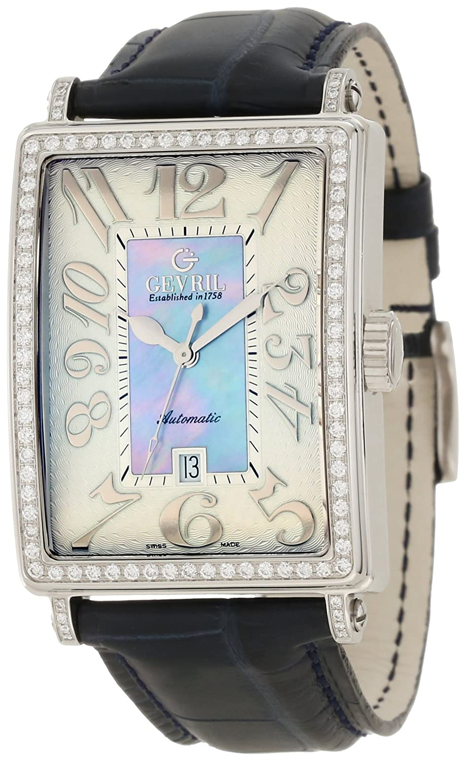 Gevril(ジェビル) Women's 6207NL Glamour Automatic Blue Diamond Watch B001CGB0LE