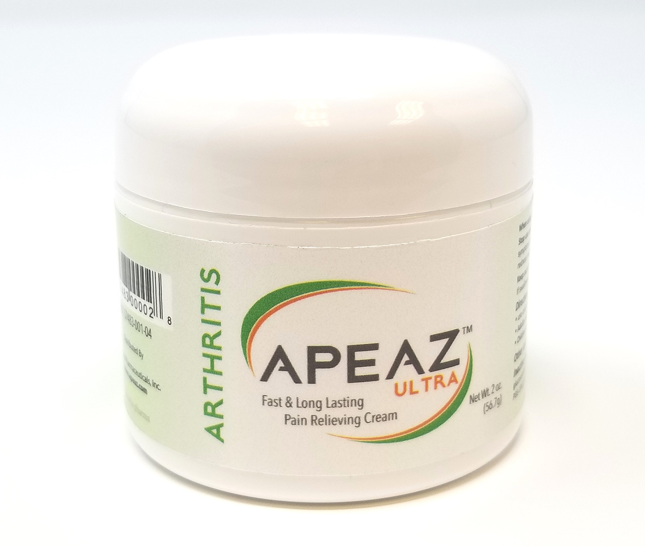 Apeaz ULTRA   Fast and Long lasting Arthritis Pain Relieving Cream - 2oz tub