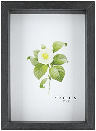 sixtrees shadow box frame 5 by 7inch black