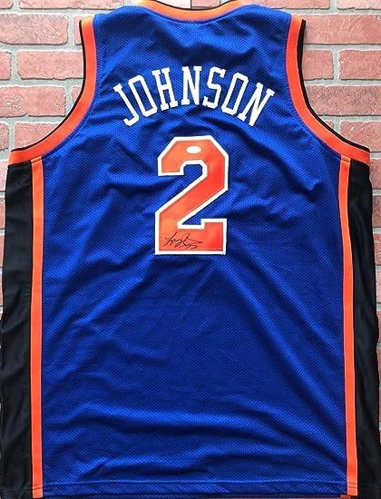 26e0e2ecf40 Larry Johnson Autographed Signed Memorabilia Jersey Nba New York Knicks JSA  W/Coa at Amazon's Sports Collectibles Store