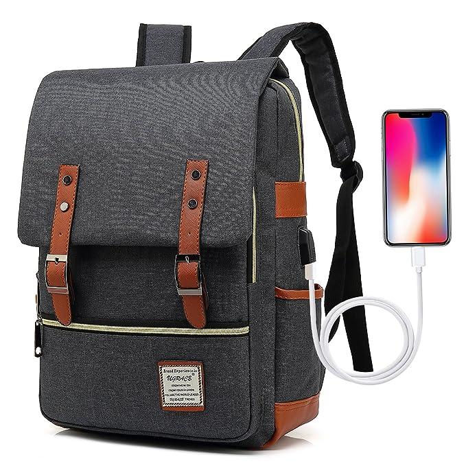 Amazon.com: UGRACE Mochila para portátil con puerto de carga ...