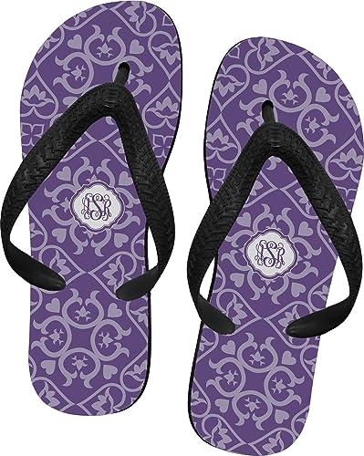92b4ea7edfd2ad RNK Shops Lotus Flower Flip Flops - XSmall (Personalized) Purple